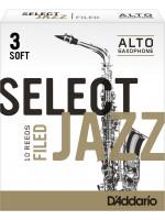 RICO RSF10ASX3S SELECT JAZZ FILED 3S jeziček za alt saksofon