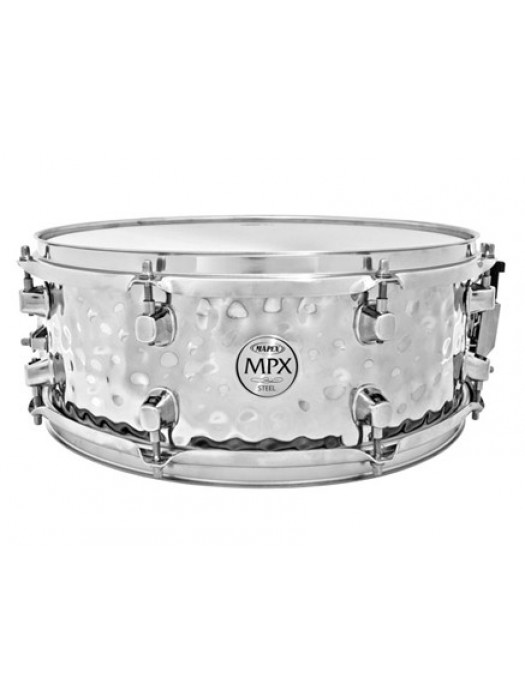 MAPEX MPST4558H SNARE HAMMERED STEEL 14X5,5