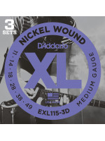 DADDARIO EXL115-3D STRUNE 3-PACK 11-49