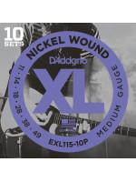 DADDARIO EXL115-10P NICKEL WOUND MEDIUM/BLUES-JAZZ 11-49
