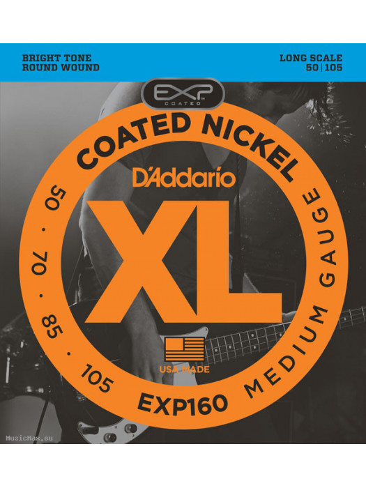 DADDARIO EXP160 COATED STRUNE ZA BASS KITARO 50-105