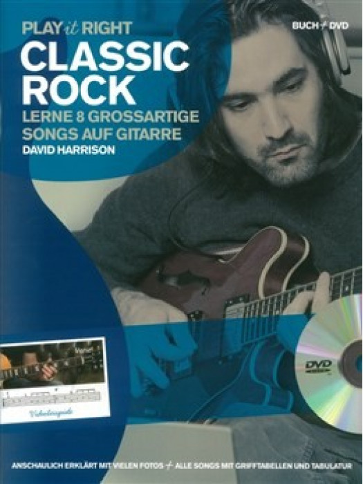 PLAY IT RIGHT CLASSIC ROCK GUITAR BK/DVD