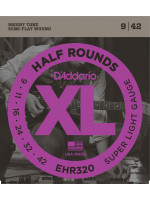 DADDARIO EHR320 HALF ROUND STRUNE SUPER LIGHT 9-42