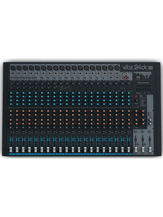 LD SYSTEMS VIBZ 24 DC 24 CHANNEL MIXING CONSOLE WITH DFX AND COMPRESSOR