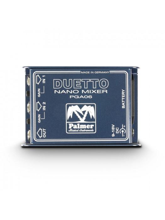 PALMER MI DUETTO NANO MIXER FOR GUITARS AND LINE SIGNALS