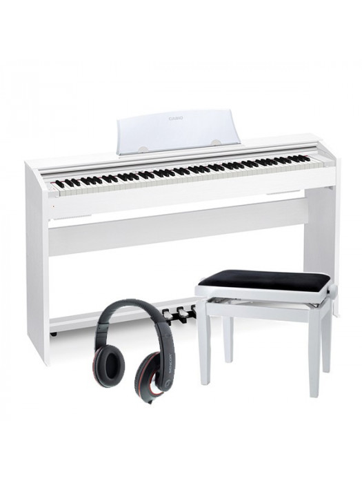 CASIO PX-770 WE PRIVIA SET S SLUŠALKAMI IN STOLOM