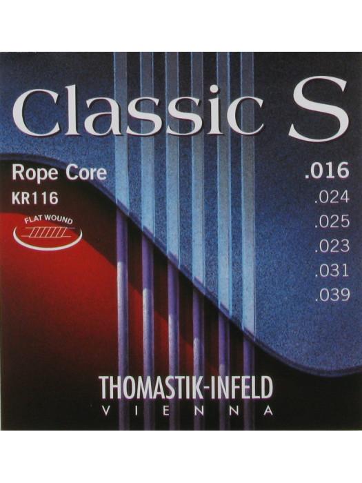 THOMASTIK KR116 Classic S Flatwound Medium strune za klasično kitaro