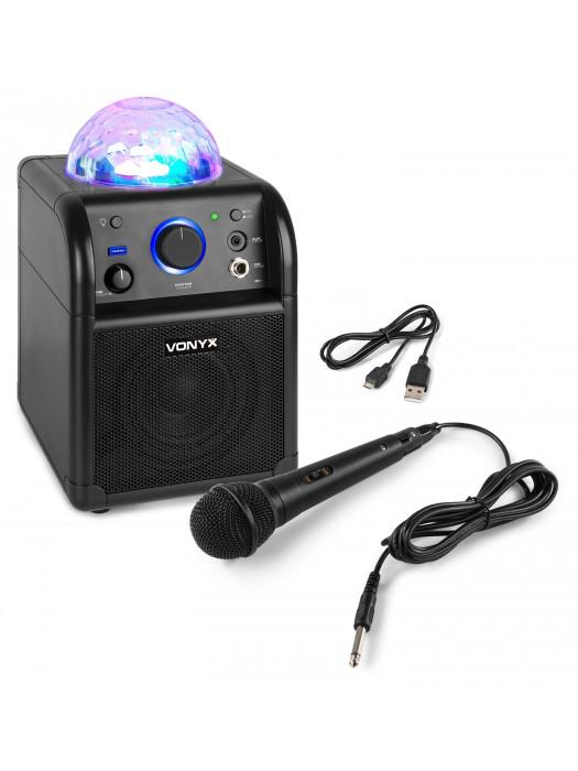 VONYX SBS50B BT Karaoke SP Mic Led prenosni sistem ozvočenja