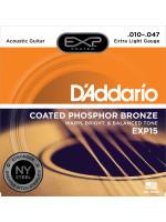 DADDARIO EXP15 COATED PH BRONZE STRUNE ZA AKUSTIČNO KITARO 10-47