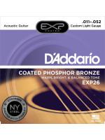 DADDARIO EXP26 COATED PH BRONZE STRUNE ZA AKUSTIČNO KITARO 11-52