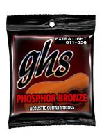 GHS S315 - STRUNE ZA AKUSTIČNO KITARO, PHOSPHOR BRONZE EX. LIGHT.011-050