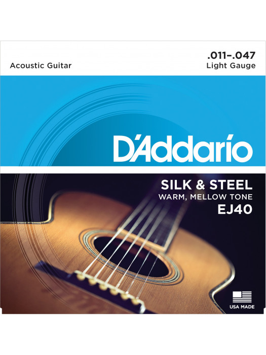 DADDARIO EJ40 STRUNE SILK & STEEL 11-47