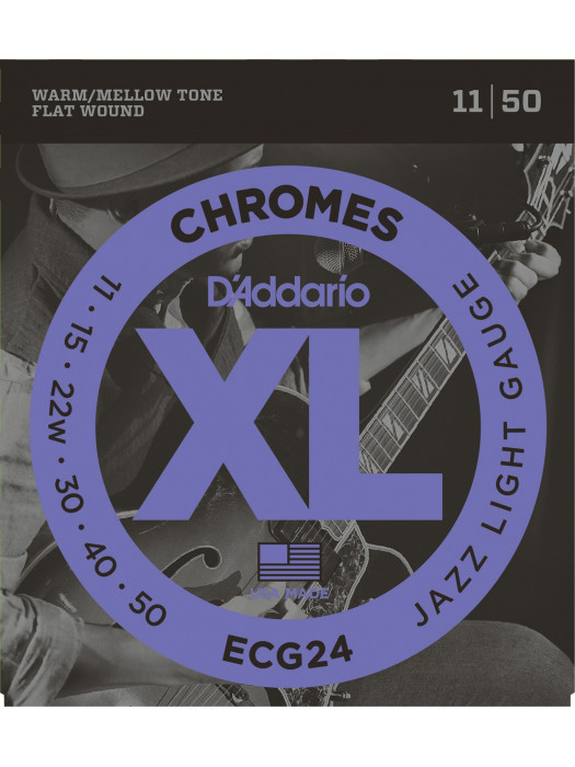DADDARIO ECG24 CHROMES BRUŠENE STRUNE 11-50