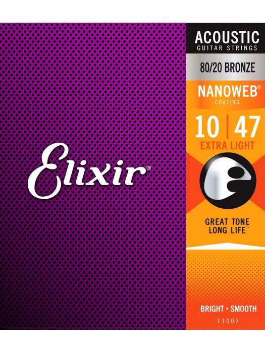 ELIXIR 11002 ACOUSTIC PHOSPHPR BRONZE STRUNE 10-47