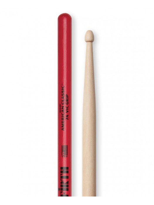 VIC FIRTH 7A w/ VIC GRIP BOBNARSKE PALICE