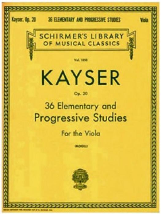 KAYSER 36 STUDYS VIOLINA