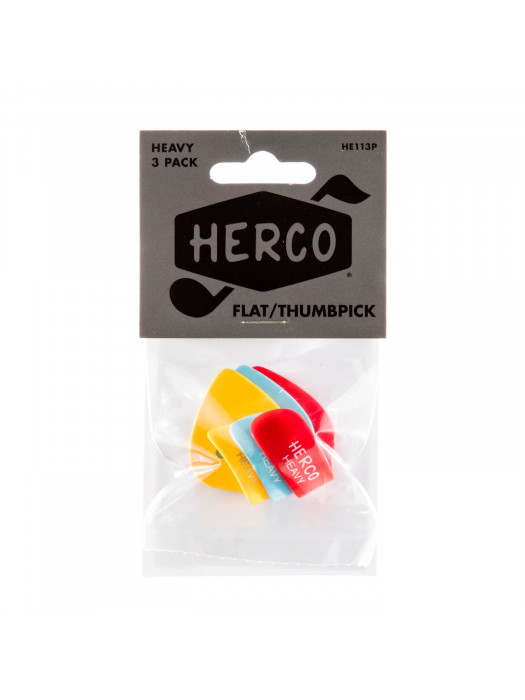 HERCO HE113P NAPRSTNIK FLAT THUMBPICK HEAVY (3)