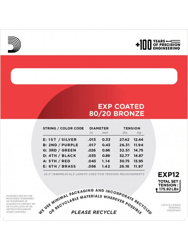 DADDARIO EXP12 STRUNE 80/20 ACOUST.MED. 13-56