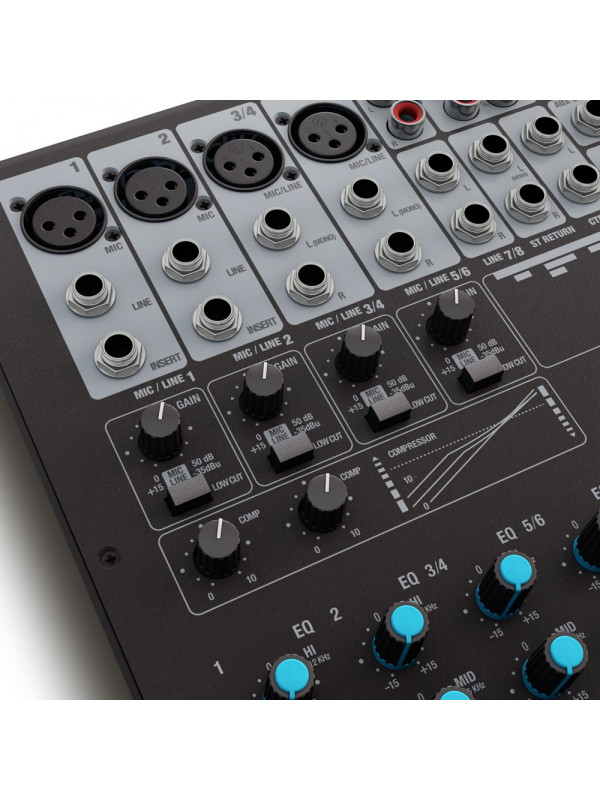 LD SYSTEMS VIBZ 8 DC MIXER 8-CHANNEL WITH DFX