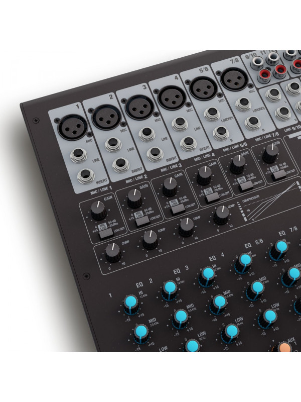 LD SYSTEMS VIBZ 12 DC MIXER 12-CHANNEL WITH DFX