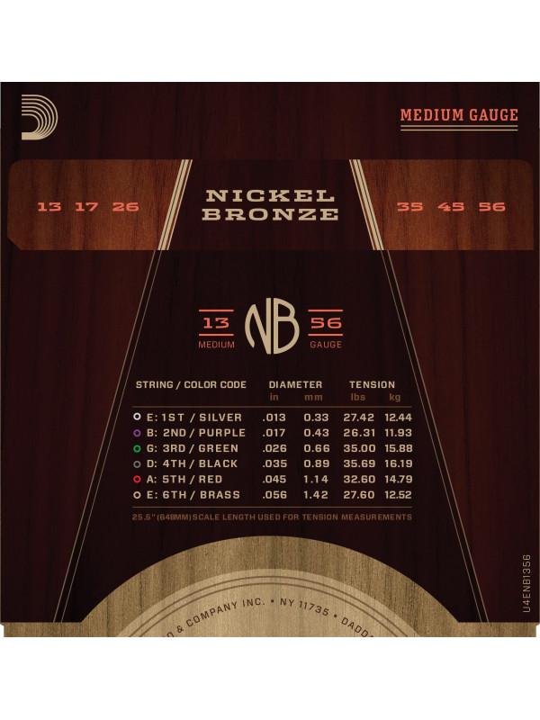 DADDARIO NB1356 NICKEL BRONZE STRUNE ZA AKUSTIČNO KITARO 13-56