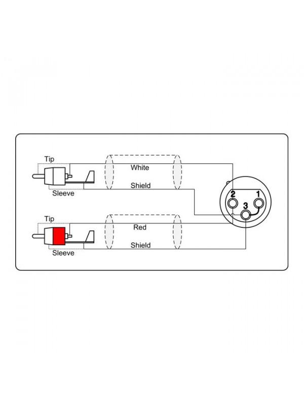 ADAM HALL KCREF704150 KABEL XLRF - RCA 1,5M