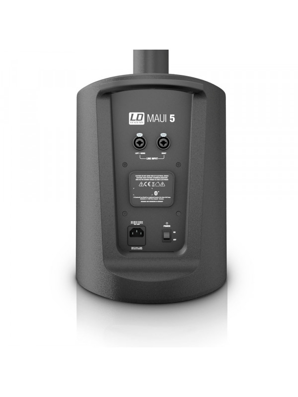 LD SYSTEMS MAUI5 COMPACT COLUMN PA SYSTEM ACTIVE BLACK
