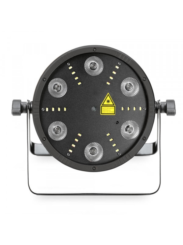 CAMEO CLFLATSTORM FLAT STORM 3-IN-1 FLAT PAR CAN LASER IN STROBE