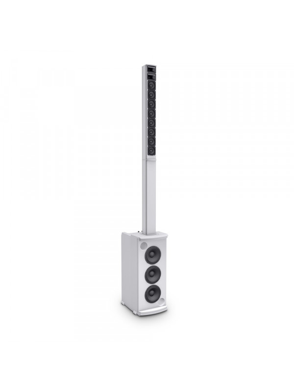 LD SYSTEMS MAUI 11 G2 PORTABLE COLUMN PA SYSTEM - MIXER AND BLUETOOTH WHITE