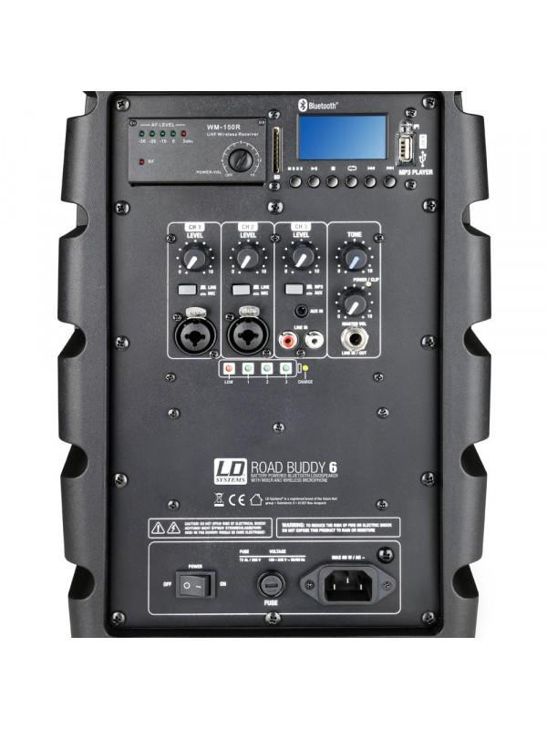 LD SYSTEMS ROADBUDDY 6 HS BATTERY POWERED BLUETOOTH SPEAKER - MIXER, BODYPACK AN