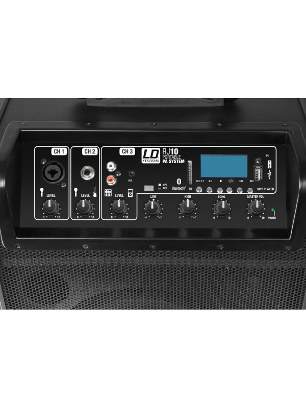 LD SYSTEMS ROADJACK 10 BATTERY POWERED BLUETOOTH LOUDSPEAKER WITH MIXER