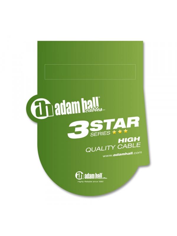 ADAM HALL K3BVV0060 KABEL 6,3 JACK STEREO - 6,3 JACK STEREO - 60 CM