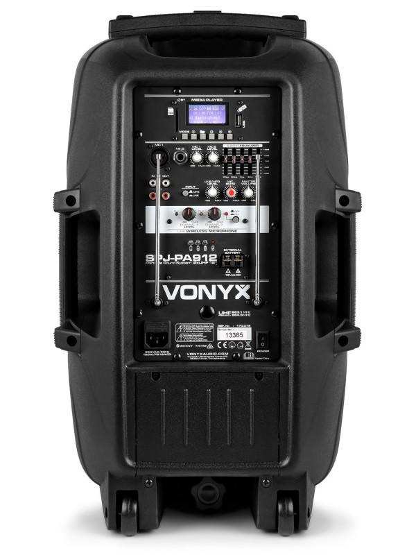 VONYX SPJ-PA912 AKTIVNI ZVOČNIK 500W S PRENOSNIM MIKR. IN USB PREDVAJALNIKOM