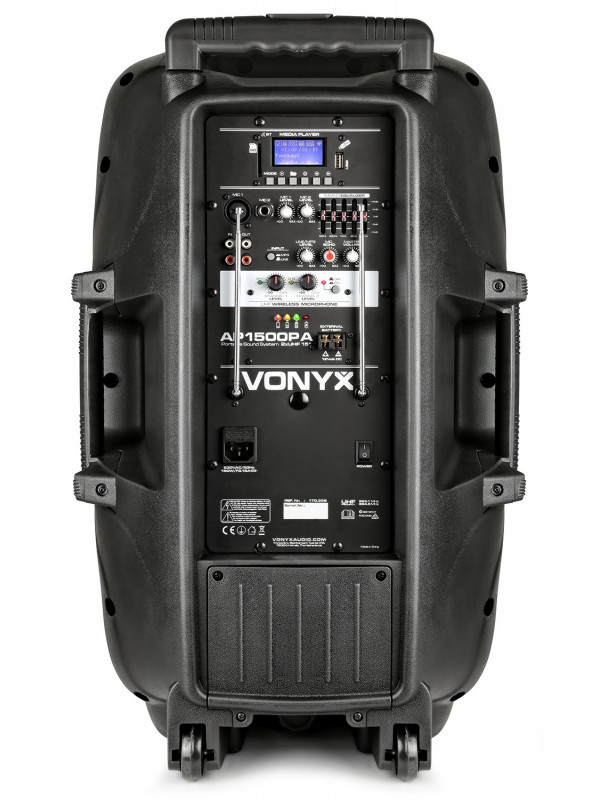 VONYX AP1500PA AKTIVNI ZVOČNIK 800W 2MIC BT PLAYER