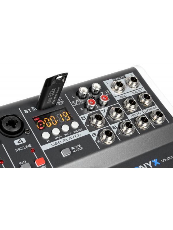VONYX VMM-K802 MEŠALNA MIZA USB 8 K Z EFEKT PROCESORJEM