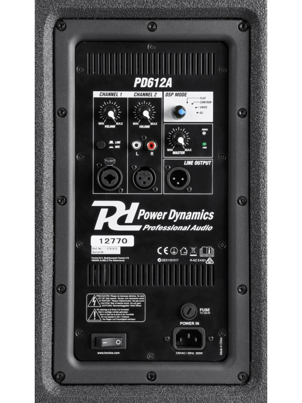 POWER DYNAMICS PD612A AKTIVNI ZVOČNIK 12˝ 400W