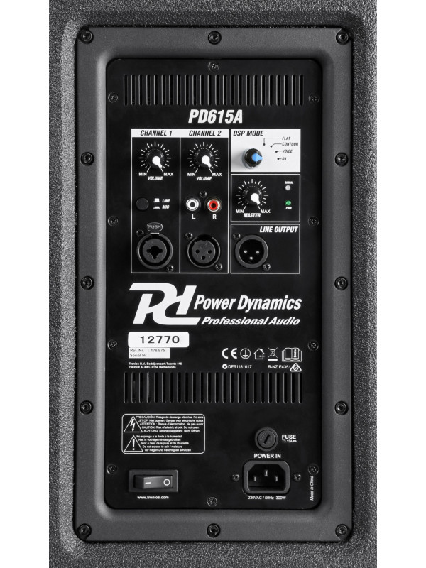 POWER DYNAMICS PD615A AKTIVNI ZVOČNIK 15˝ 600W